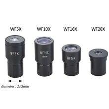Набор WF5X микроскоп Окуляры WF10X WF16X WF20X Окуляры для Биологический Микроскоп Аксессуары и Запчасти Широкоугольный Объектив