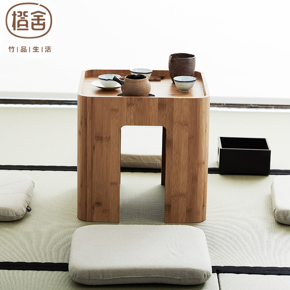 Bamboo Table With Design: ZEN'S BAMBOO Tatami Table Simple Design Bamboo Stool Tea