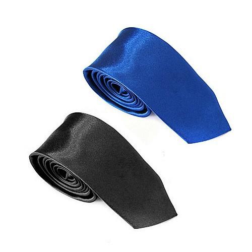 2 дюймов 5 см мужская мода обычная твердые классический атласная тощий галстук шеи галстук