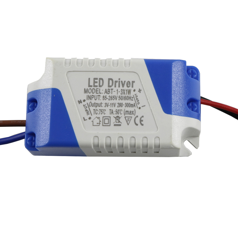 <font><b>LED</b></font> External <font><b>Driver</b></font> (1-3W)x1W 280-300mA DC <font><b>3V</b></font> ~ 11V <font><b>Led</b></font> <font><b>Driver</b></font> 1W 2W 3W Power Supply AC 110V 220V for <font><b>LED</b></font> lights Lamps Safe image