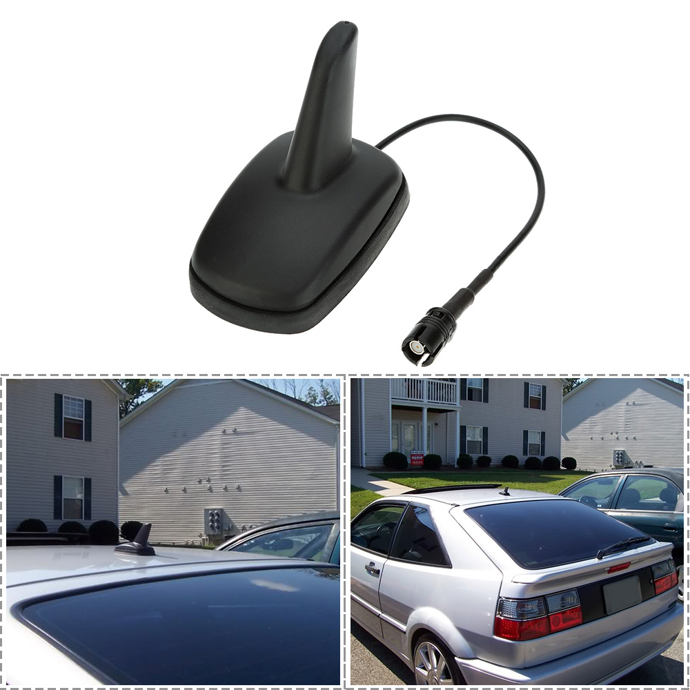 ROLLIN Universal Car Antenna Shark Fin for Roof Antenna Radio Am//FM