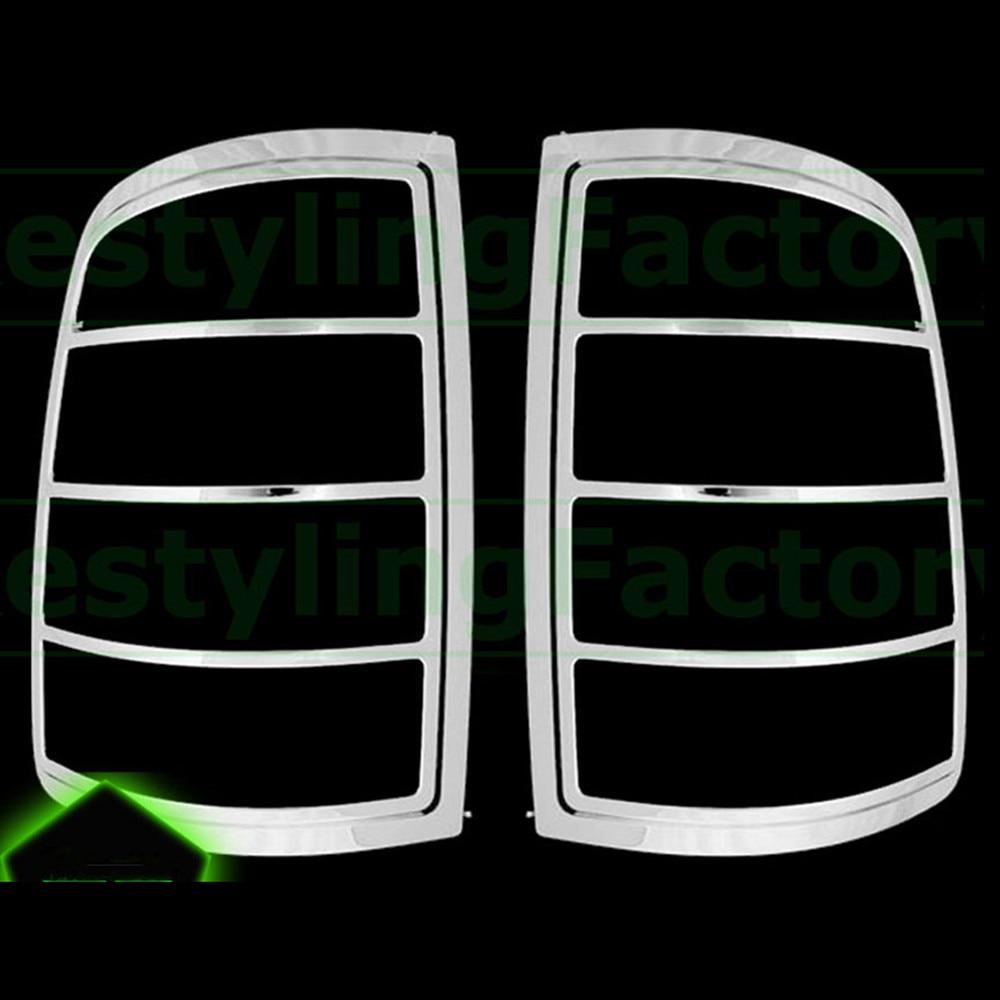 XYIVYG 2009 16 for Dodge Ram 1500 Truck Chrome ABS Taillight Tail Light Trim Bezel Lamp