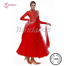 high quality red ballroom dance dress standard B-13116