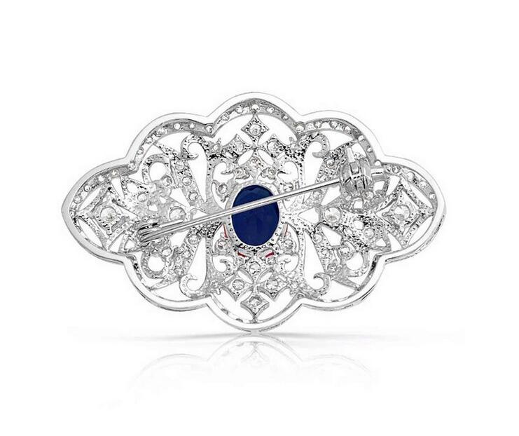 2.2-palčni vintage videz kristalno bronasti nakit za poročne - Modni nakit - Fotografija 2