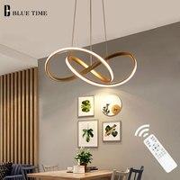 Черный и золотой корпус современный светодио дный светодиодный подвесной светильник для гостиной столовой кухни подвесной светильник под