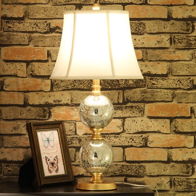 Modern Art Deco Tischlampe Wohnzimmer Nachttischlampe Für Schlafzimmer  Salon Wohnzimmer Silber Glas Schreibtisch Desktop Lampe