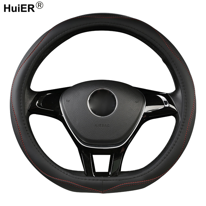 Car Steering Wheel Cover D Shape For VW GOLF 7 2015 POLO JATTA Passat Tiguan For Nissan Qashqai J11 X-trail T32 2015- 2017 2018 image