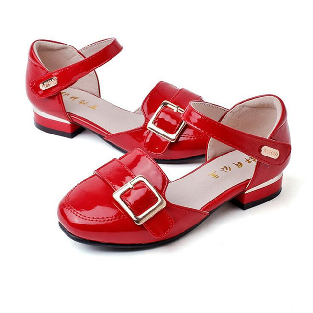Children Leather Shoes Girls Performance Spring Autumn the Latest Shoes  Fashion Brand Dress Princess Kids Wedding Shoes Brand a03e5aa30ed8