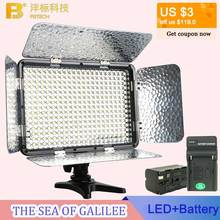 Omala 330 LED Video Light 3200k/5500k 24W 2500 Lux Photos Photography Lighting for Canon Nikon DSLR Camera with NP-F750 Battery