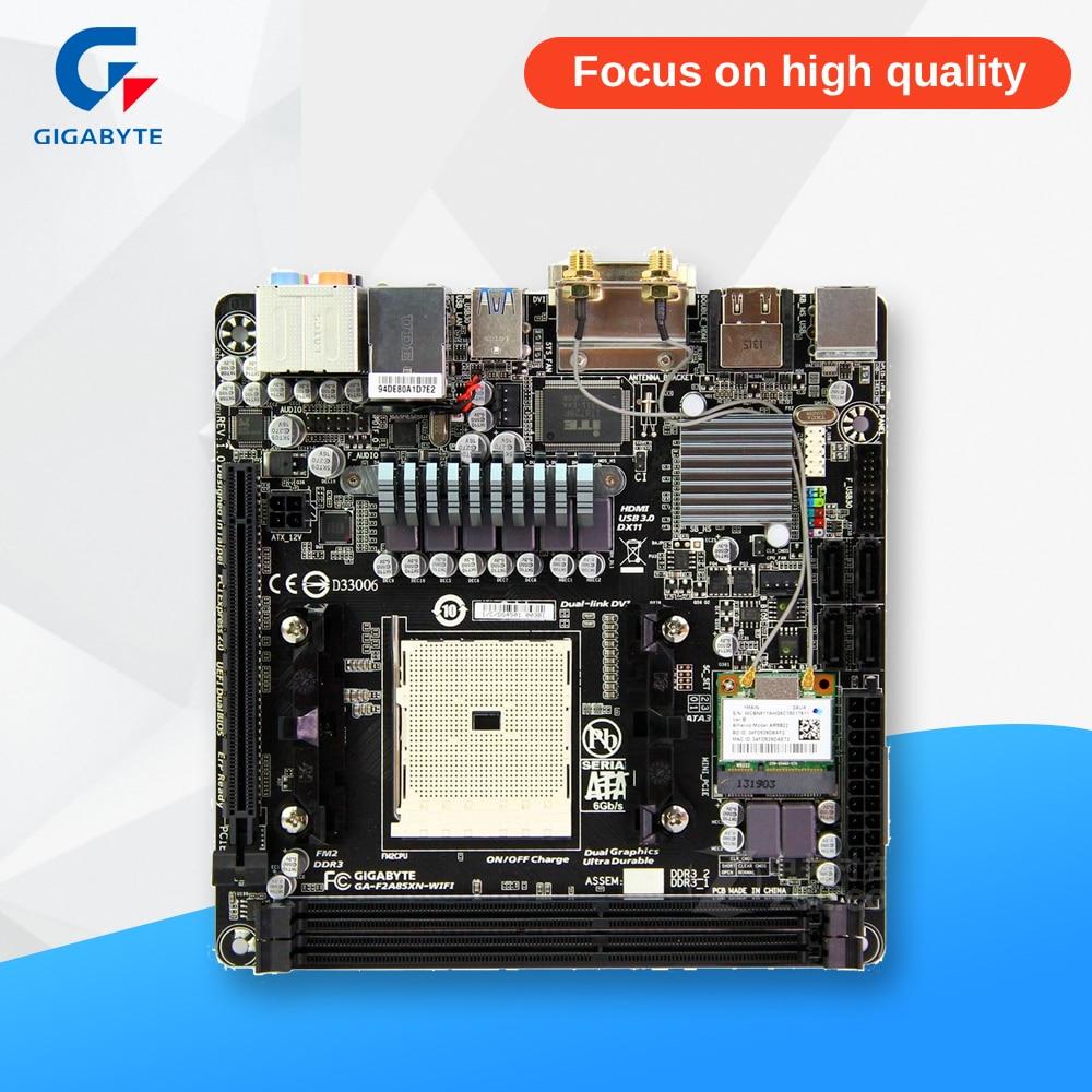 Gigabyte GA-F2A85XN-WIFI Desktop Motherboard F2A85XN-WIFI A85X Socket FM2 DDR3 SATA3 USB3.0 Mini-ITX блуза savage savage sa004ewanzy8