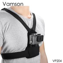 Vamson ل Gopro 7 6 5 4 الاكسسوارات مرونة الجسم تسخير حزام شريط للصدر جبل ل DJI OSMO العمل ل xiaomi يي كاميرا VP204