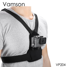 Vamson for Gopro 7 6 5 4 Accessories Elastic Body Harness Strap Chest Strap Mount for DJI OSMO Action for xiaomi Yi Camera VP204