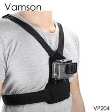 Vamson per Gopro 7 6 5 4 Accessori Corpo Elastico Harness Strap Fascia Toracica Mount per DJI OSMO Azione per xiaomi Yi Macchina Fotografica VP204