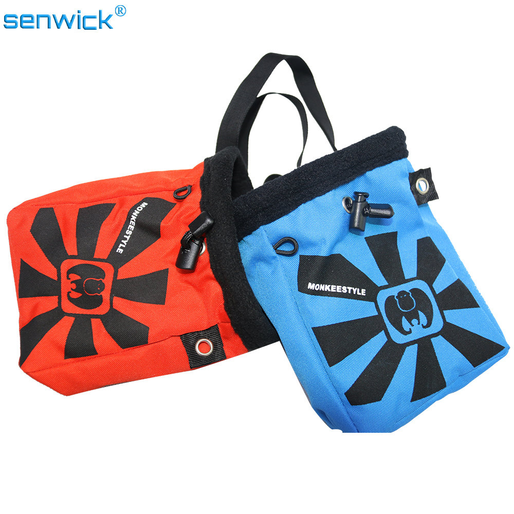 Red Blue Waterproof Anti-Slip Chalk Bag Outdoor Mountain-Climbing Rock Climbing Beam Mg Powder Bags Slippery Powder Bag