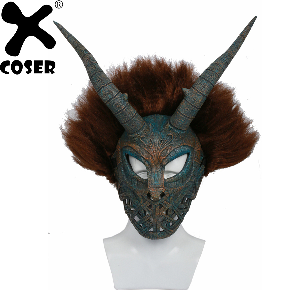 XCOSER Brand Hot Movie Black Panther Erik Killmonger Mask Cosplay Props Stylish Halloween Party Cosplay Masks Accessories Gift