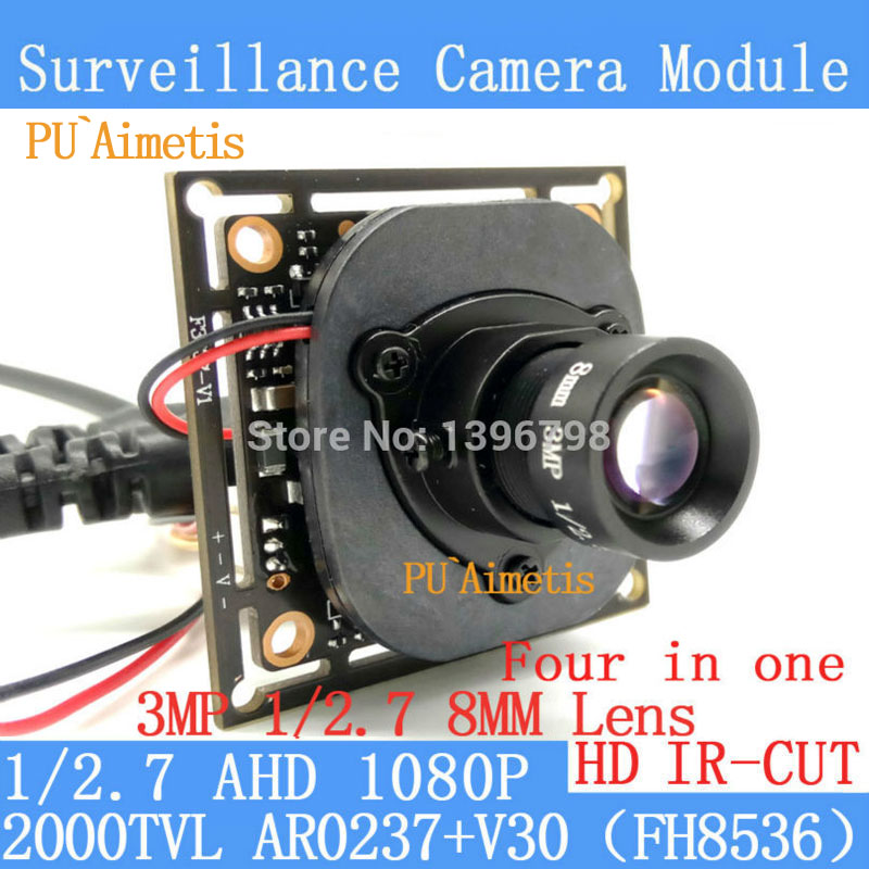 PU`Aimetis 2MP 1920*1080P AHD 1/2.7 4in1 AR0237 CCTV Camera Module 3MP 8mm 2000TVL surveillance camer ODS/ BNC Cable+HD IR-CUT pu aimetis 4in1 1000tvl ahd cctv camera module 3mp 3 6mm lens pal or ntsc optional surveillance camera ir cut dual filter switch