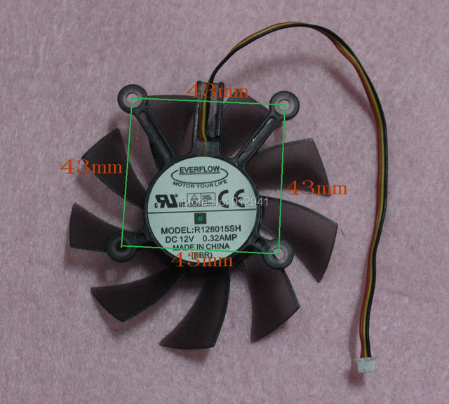 R128015sh 75mm Graphics Video Card Fan Replacement 4 X