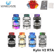 Original Vandy Vape Kylin V2 RTA 3ml/5ml Support Single/Dual Coil Upgraded from Vandyvape Kylin RTA For E Cigarette Box Mod Vape(China)