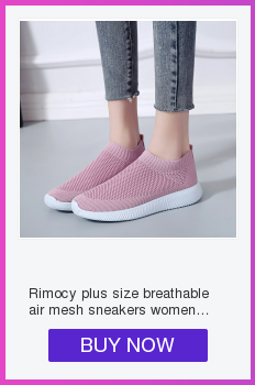 HTB13bindlGE3KVjSZFhq6AkaFXap Rimocy plus size breathable air mesh sneakers women 2019 spring summer slip on platform knitting flats soft walking shoes woman