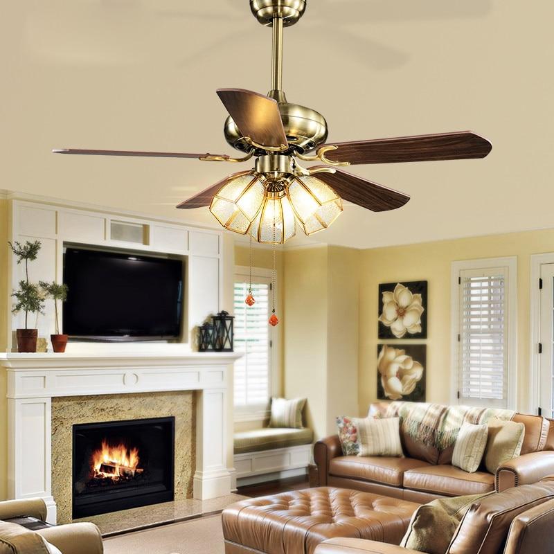 Antiguo estilo europeo sal n ventilador de techo l mpara ventilador luz para dormitorio - Ventiladores de techo antiguos ...