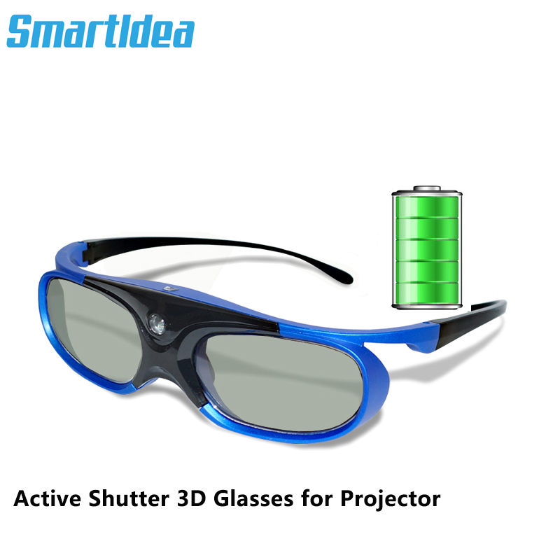Smartldea Rechargeable DLP link active shutter 3D glasses for all dlp 3D ready projector, varied brand projector