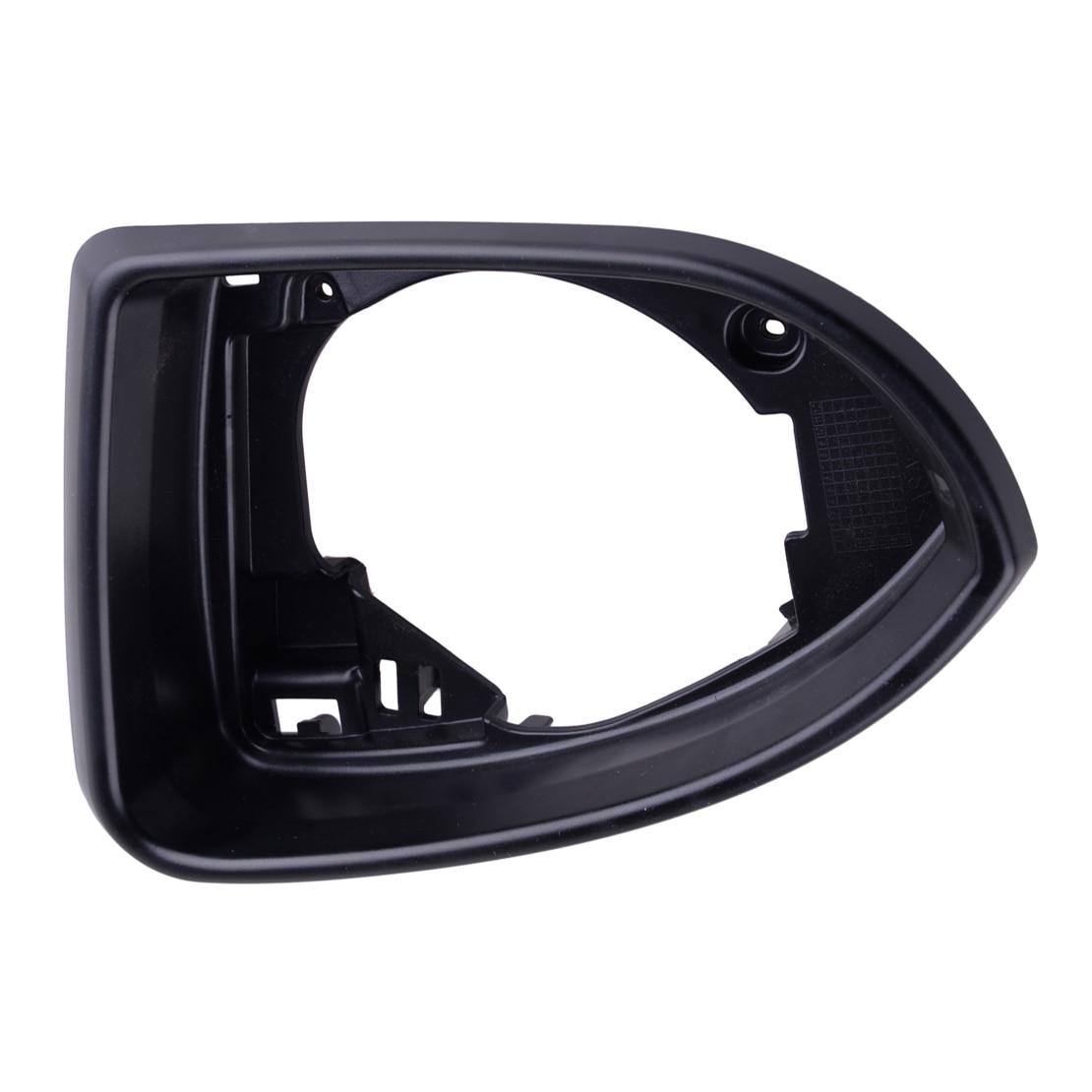 CITALL Car Driving Side Left Front Mirror Glass Holder Surround Trim Frame Fit for VW Golf MK7 2014 2015 2016 2017