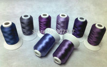 Simthread Violet/Paars Serie Polyester Computer Machine Borduurgaren Filament 500 m * 8, Sterke Sterkte, Super glans, 120d/2embroideriesembroidery thread saleembroidery jerseys