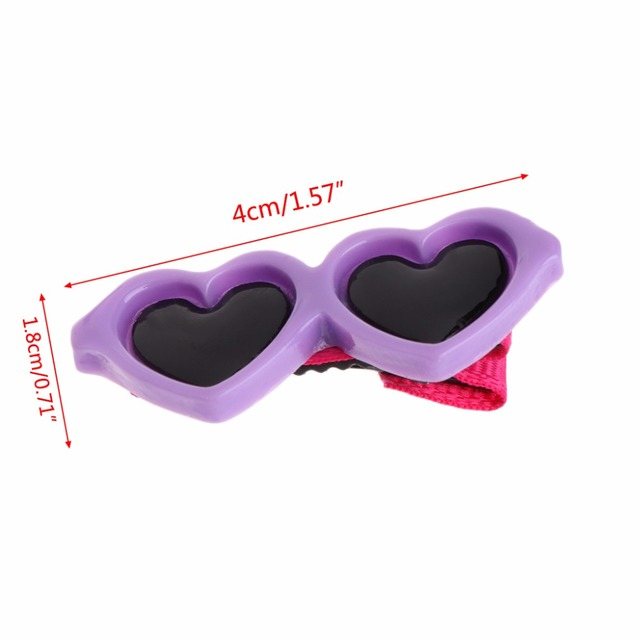 Best & Cheap Hair Clips Heart Glasses Grooming Supplies for Dogs & Cats Hair Accessories 3