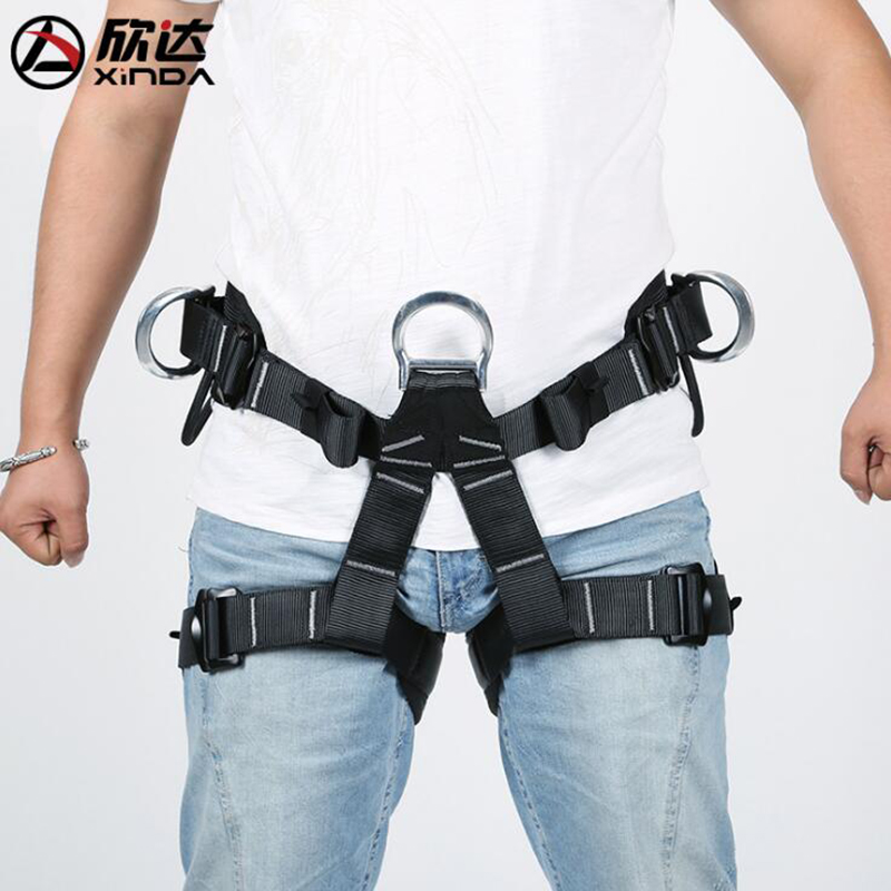 Xinda Half-length Waistband Leggings Belts Professional Rescue Rock Climbing Rescue Operations Outdoor Harness xinda professional handle pulley roller gear outdoor rock climbing tyrolean traverse crossing weight carriage device