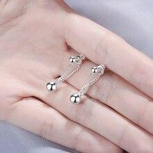 Todorova Punk Style Chain Tassel Earrings Ball Pendant Drop Earrings for Women Girls Statement Jewelry Wholesale
