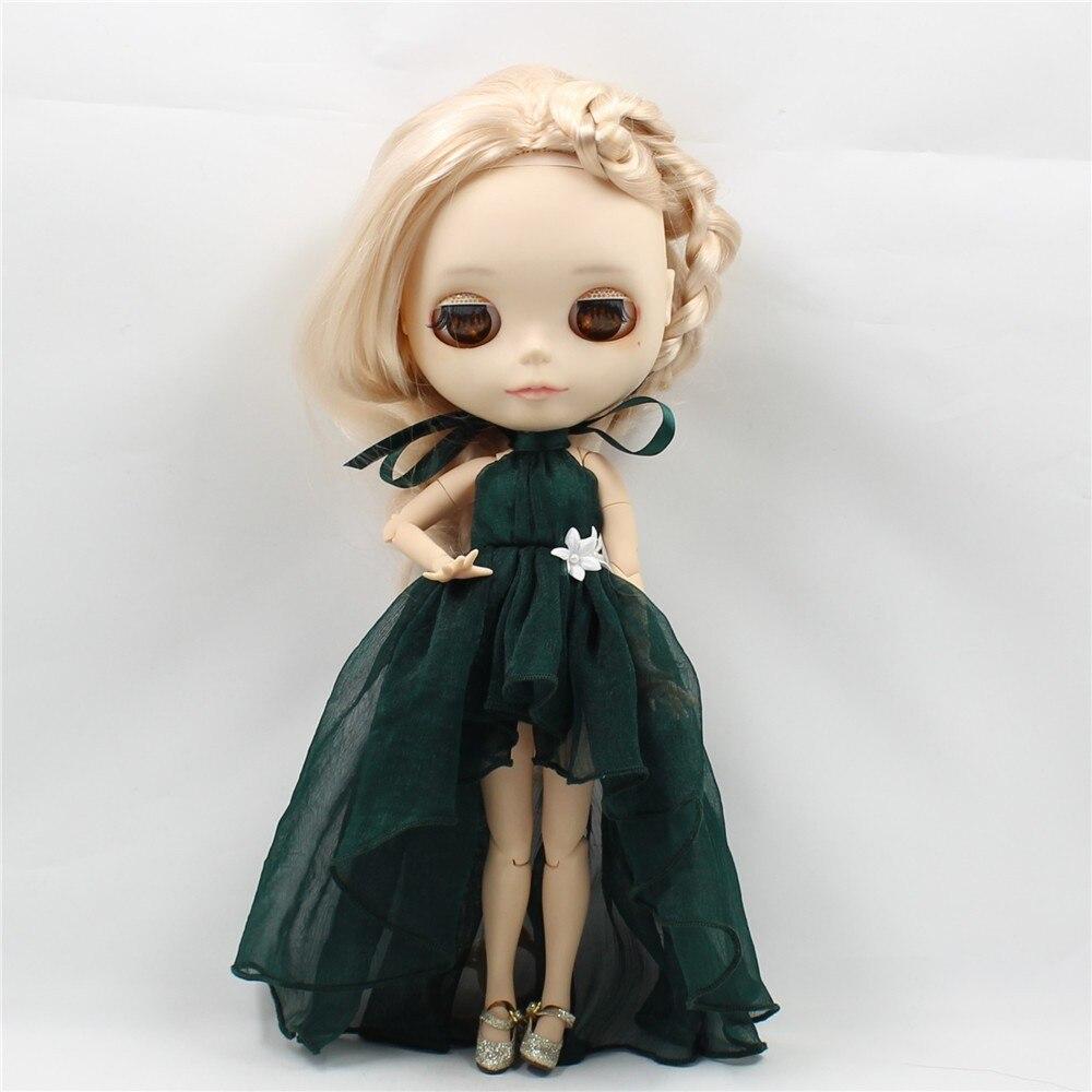 Neo Blythe Doll Chiffon Dress with Flower 8