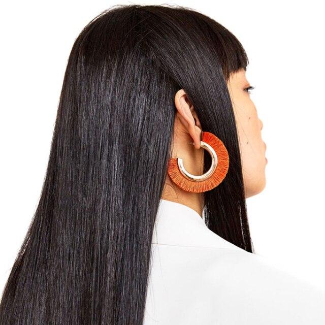 Cotton Fringed Earrings