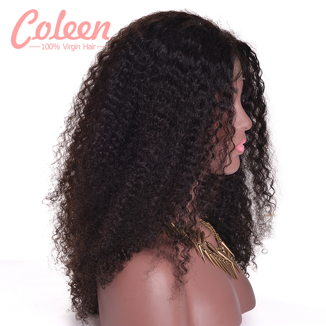 Malaysian Kinky Curly Wigs Glueless Lace Front Human Hair Wigs 7A Afro Kinky Curly Wig Full Lace Human Hair Wigs With Baby Hair