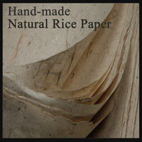 50 sheet/pack Natural Color Painting Paper Chinese Calligraphy Feather edge Xuan Paper Paintting Supply