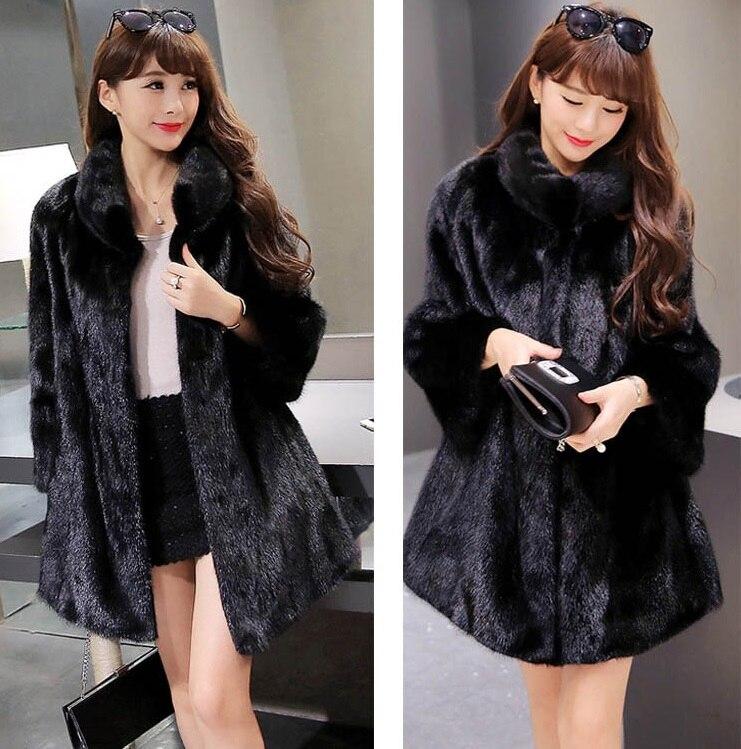 Pelt Blanc xxl Manteau Pardessus 028 D'hiver Faux Femmes De Fourrure Complet Fausse En noir Mode Vison M xTpqpwZ60