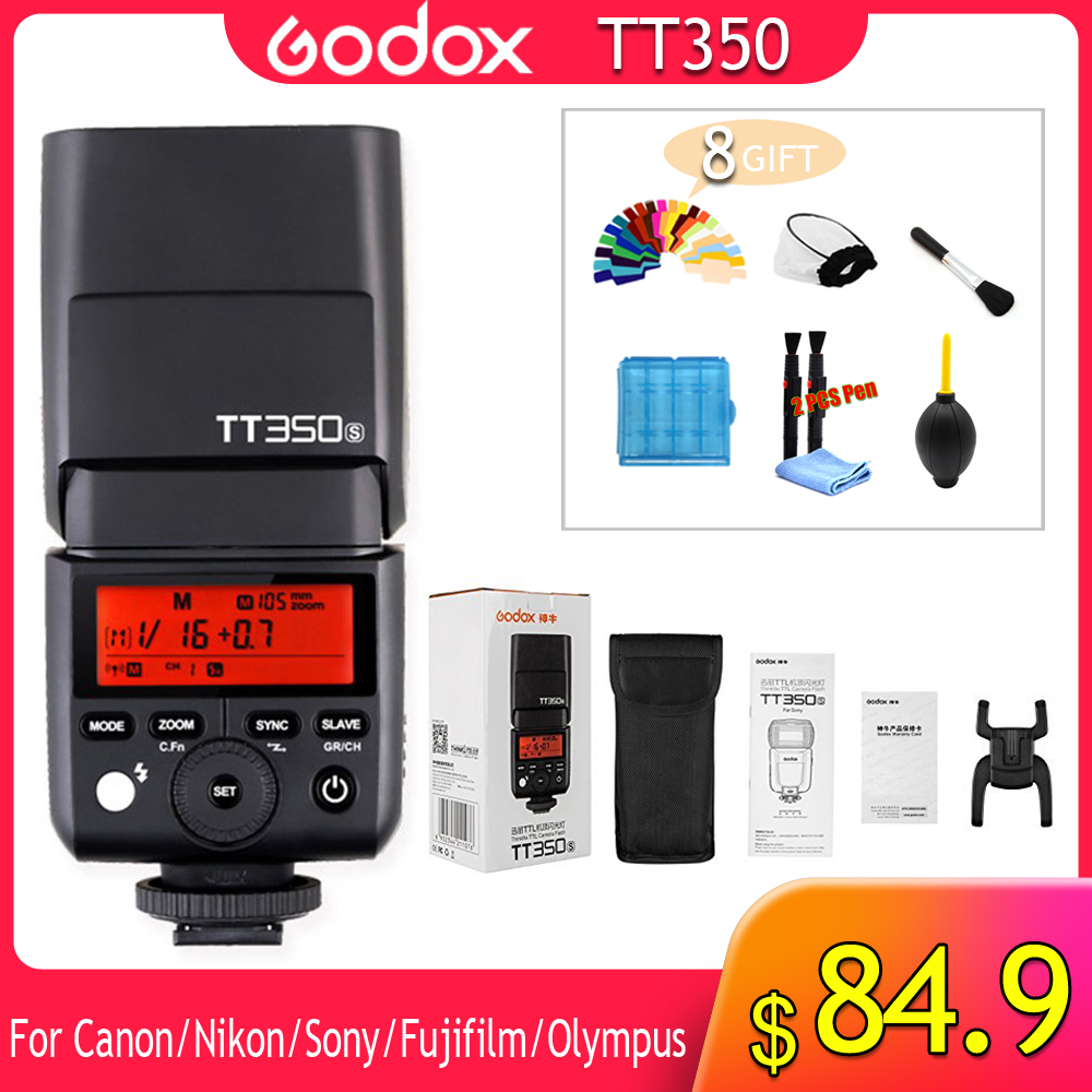 Godox TT350 Flash 1/8000s GN36 2.4G Wireless TTL HSS Mini Flash Speedlite XPro X1T for Canon Nikon Sony Fuji Olympus DSLR CameraGodox TT350 Flash 1/8000s GN36 2.4G Wireless TTL HSS Mini Flash Speedlite XPro X1T for Canon Nikon Sony Fuji Olympus DSLR Camera