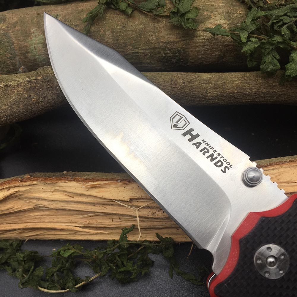 Tools : Harnds CK7006 Blazer Folding Knife 9Cr18MoV Blade G10 Handle Outdoor Survival Camping Bushcraft Military EDC Multitool Knife