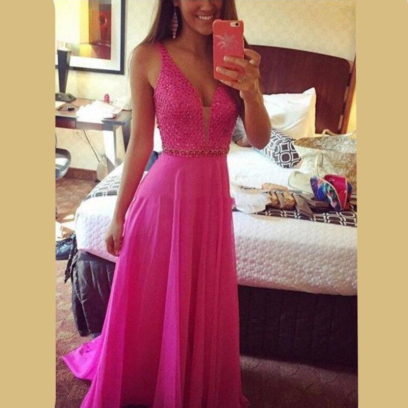 Vestidos fiesta rosa fucsia