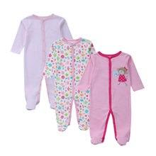 Mom Nest – combinaison 3 pièces pour bébé fille, barboteuse à manches longues, vêtements printemps-automne-hiver, Style carté