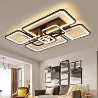 Led Kronleuchter platz rechteck lampe licht moderne einfache für wohnzimmer esszimmer schlafzimmer studie zimmer