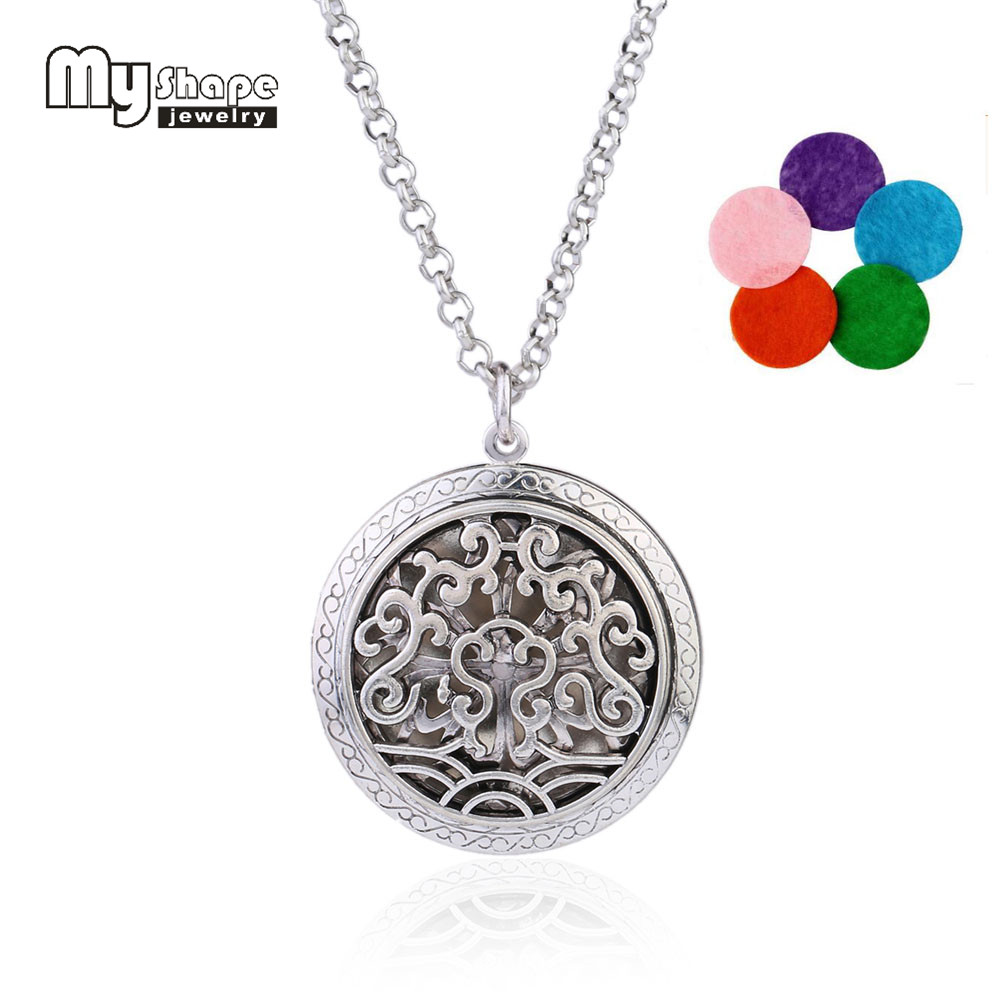 my shape Essential Oil Aromatherapy Diffuser Necklace Lotus Cloud Hollow Locket Pendant With Mixed Color Perfume Pads Jewelry