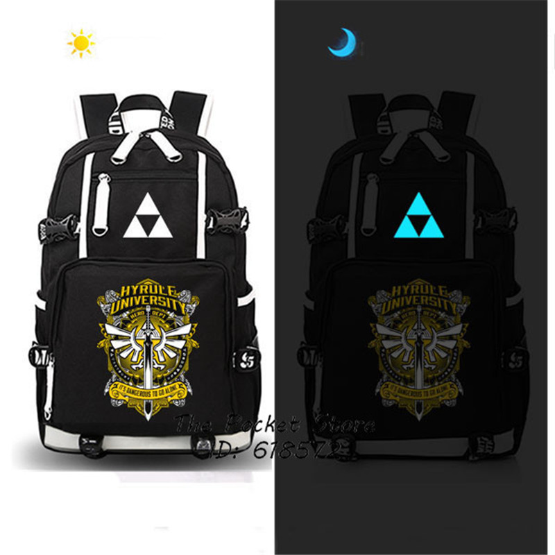 Game The Legend of Zelda: Breath of the Wild Zelda Backpack Large Capacity Canvas School Bags Mochila Laptop Backpack Travel Bag anime the legend of zelda backpack bag school bag shoulder bag cosplay bag a style