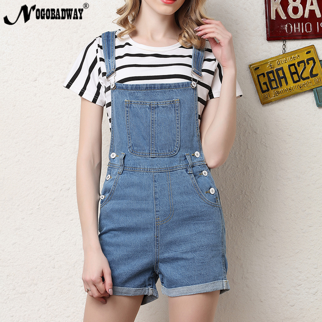 2f8c4854a63 Denim short overalls dungarees women jumpsuit romper casual fashion jeans  playsuits washed blue autumn summer women clothing new