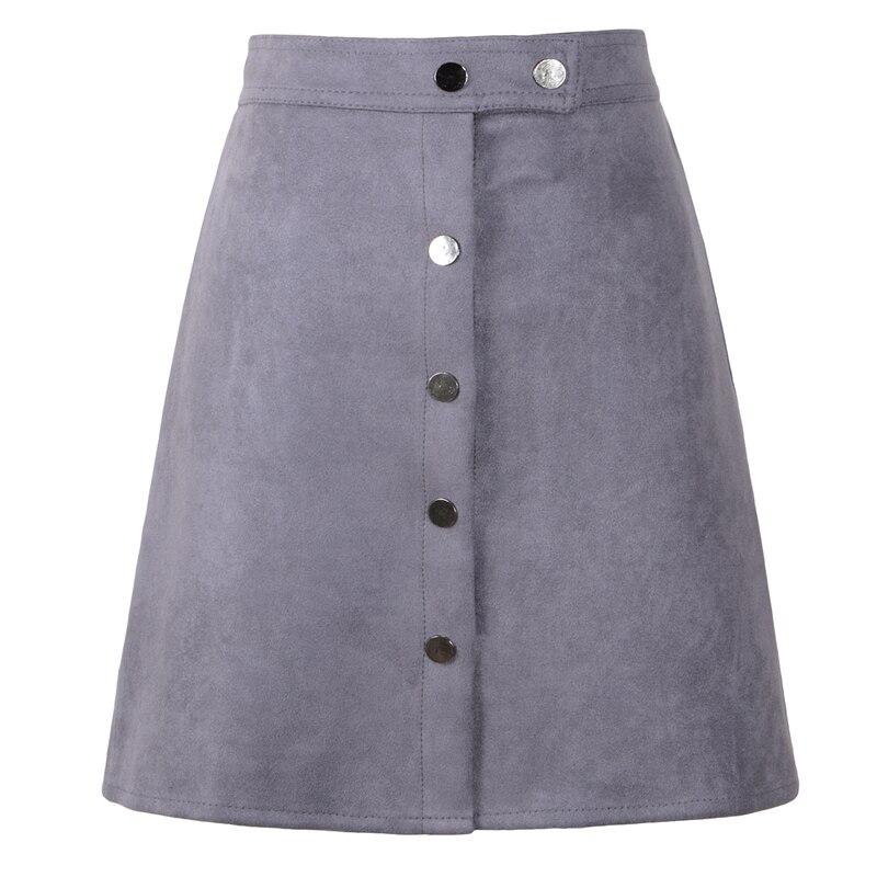 Neophil 19 Winter Women Suede Button Mini Vintage Style A Line Skirts High Waist Black Wrap Ladies Short Skirt Tutu Saia S1001 10