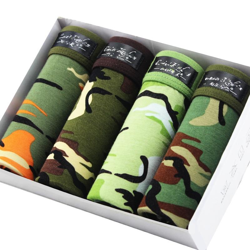 Best Selling Mens Underwear Plus Size Men's Boxer Shorts Fashion Breathable Modal Boxer Tide Men Soldier Camouflage Underwear