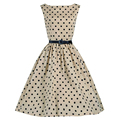 Women Dress 2016 Summer Style Vestidos De Festa Sleeveless Retro Dress Elegant  Party Swing Dress Polka Dot  Fashion New Clothes