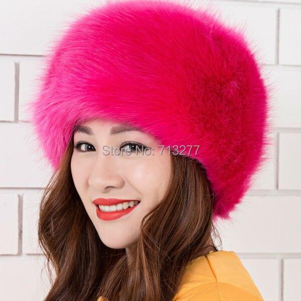Warm Winter Hat 2017 Imitation Fur Hat Fashion Faux Fur Cossak - Հագուստի պարագաներ - Լուսանկար 5