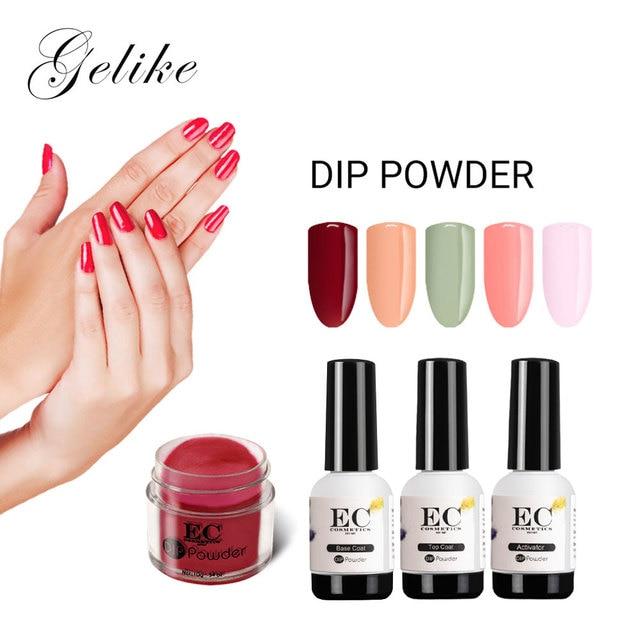 Gelike Colors Extreme Shine 10g/pcs Set Dipping Powder Transparent ...