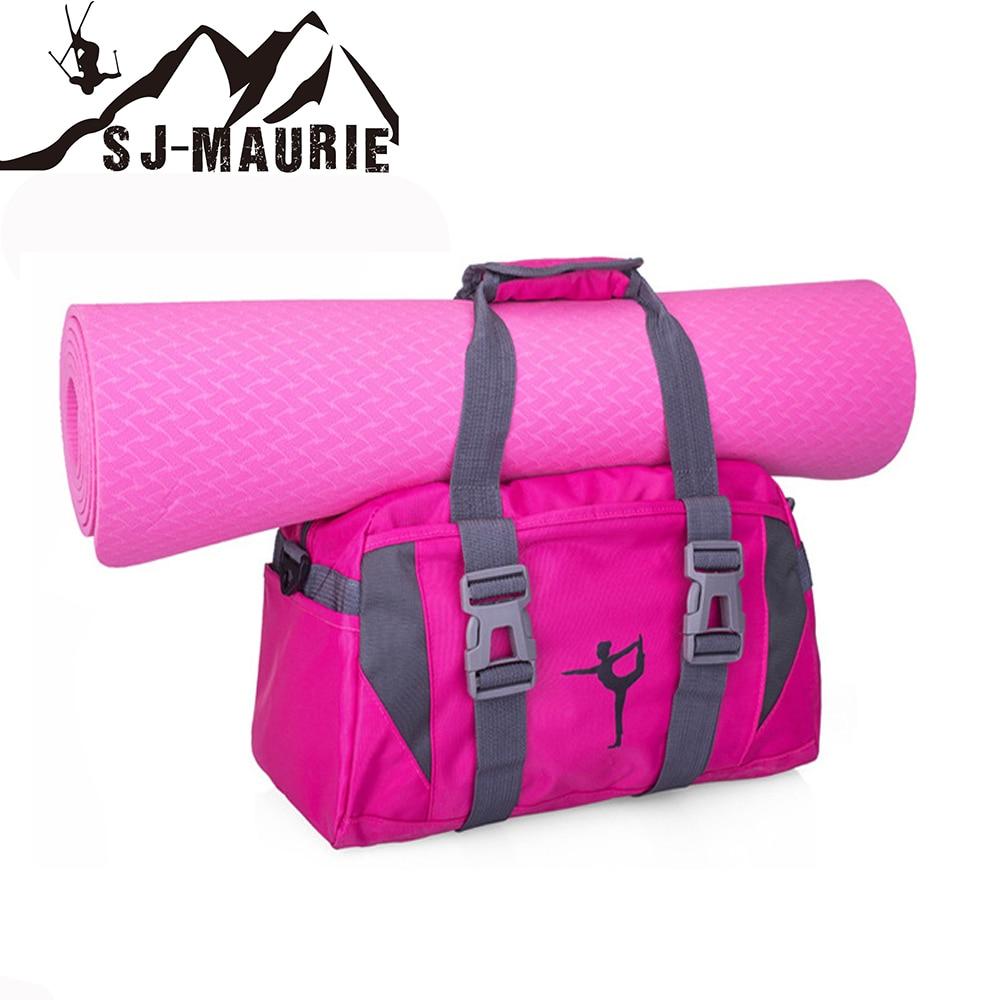 SJ-Maurie Yoga Mat Bag Multifunctional Waterproof Canvas Men Sport Gym Bag Women Fitness Waterproof Outdoor Yoga Bags