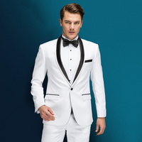 Jackets+Pants Men High Quality Fit Business Suit With Pants Male Dress For Wedding Suit Two Piece 2018